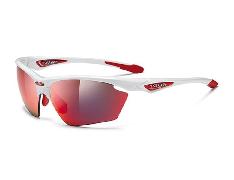 Rudy Project Stratofly Cykelbrille Hvid/Multi laser Rød Linse