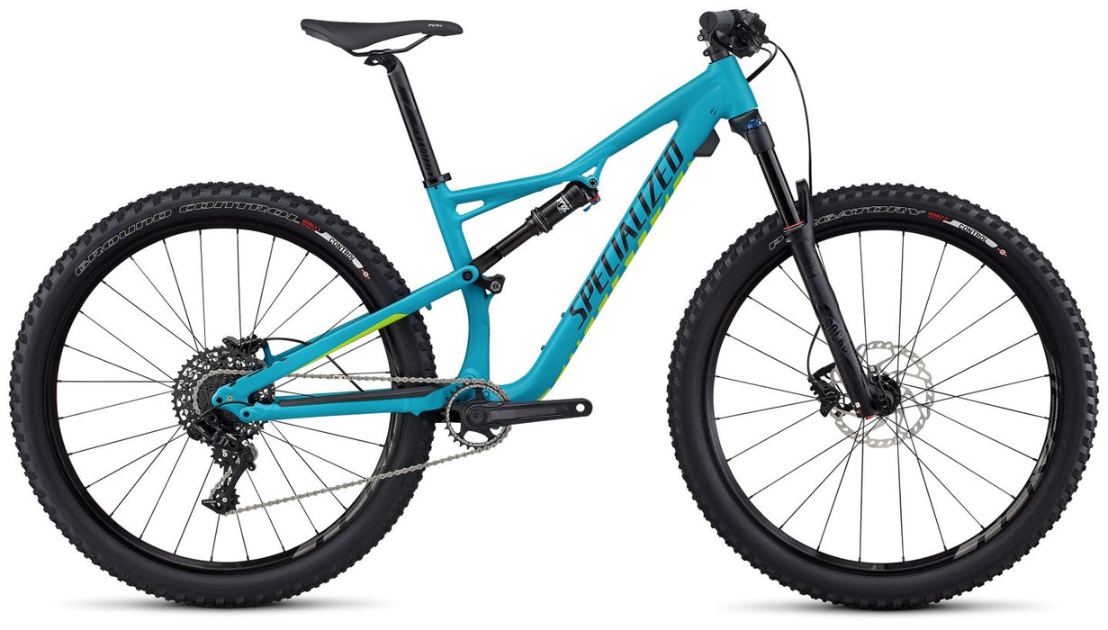 Specialized Camber Wmn FSR Comp 650B (2017) Í Blå fully kvindespecifik MTB med SRAM 11-speed