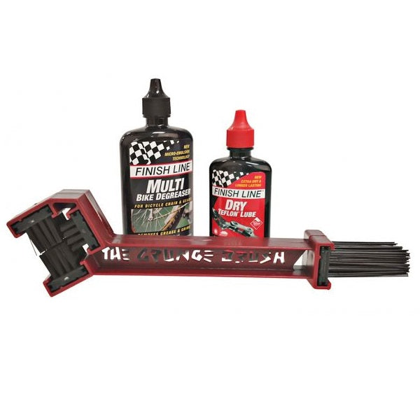 Finish Line Starter Kit 1-2-3 - Grunge Brush / Deagreaser / Dry Lube | Personlig pleje