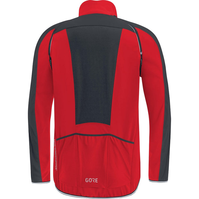 GORE C3 WINDSTOPPER PHANTOM Zip-Off Jakke Rød/Sort