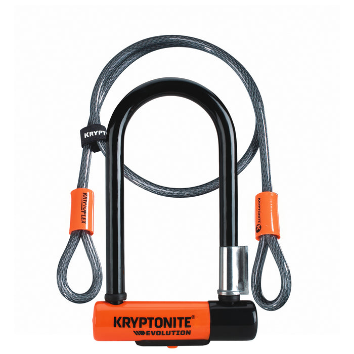 Kryptonite U-Lock Evo Mini7 Bøjlelås m. Wire
