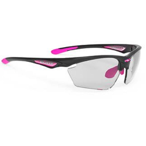 Rudy Project Stratofly Cykelbrille  Black Gloss/Fuchsia Photo Clear