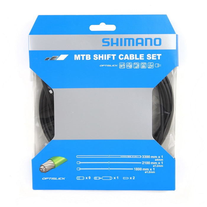 Shimano MTB Shift Cable Set - Optislick - Til Mountainbike