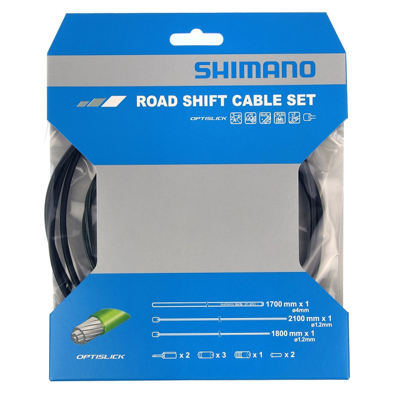 Shimano Road Shift Cable Set - Optislick - Til racercykel | Gear cables
