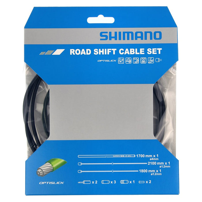 Shimano Road Shift Cable Set - Optislick - Til racercykel