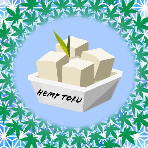 Animated hemp tofu in container
