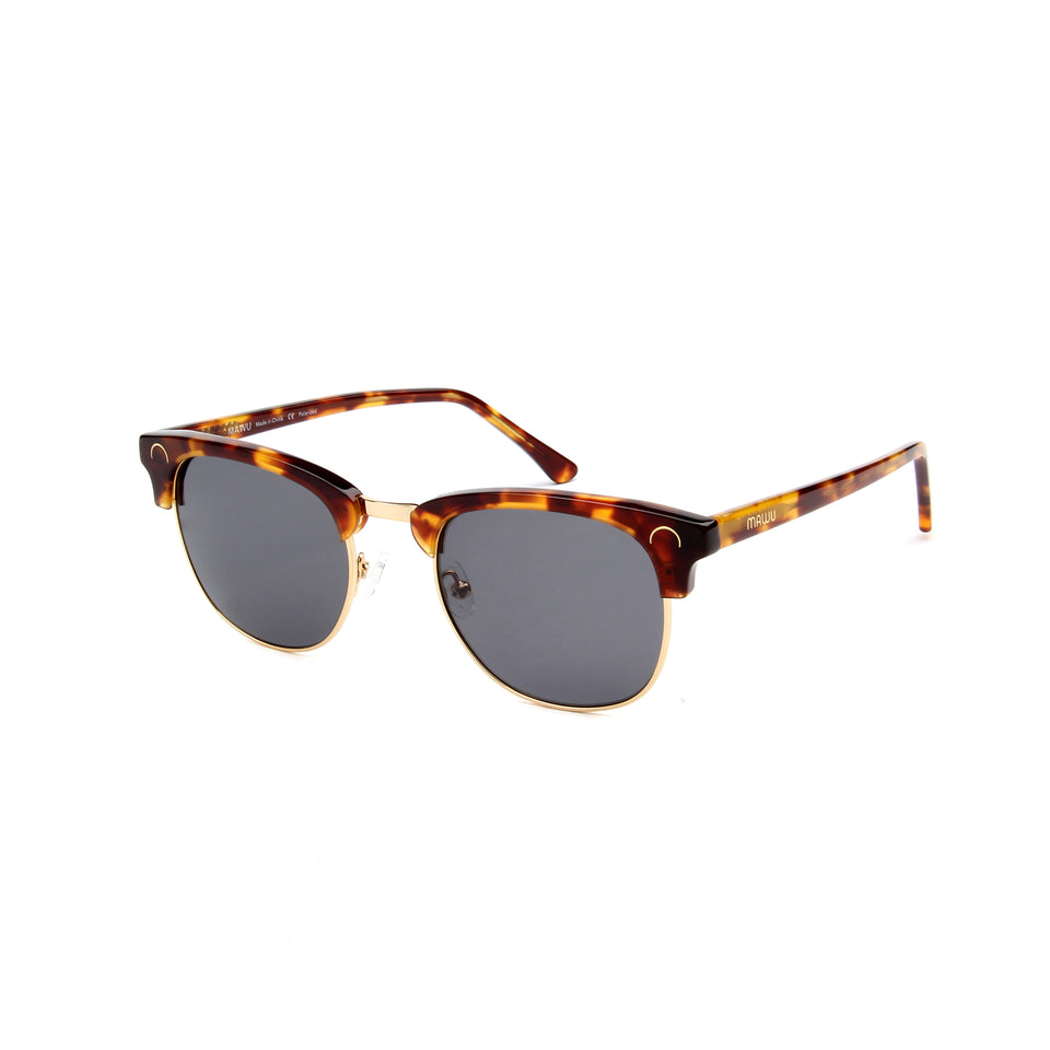 Cannes Tortoise - Angle View - Grey lens - Mawu Sunglasses