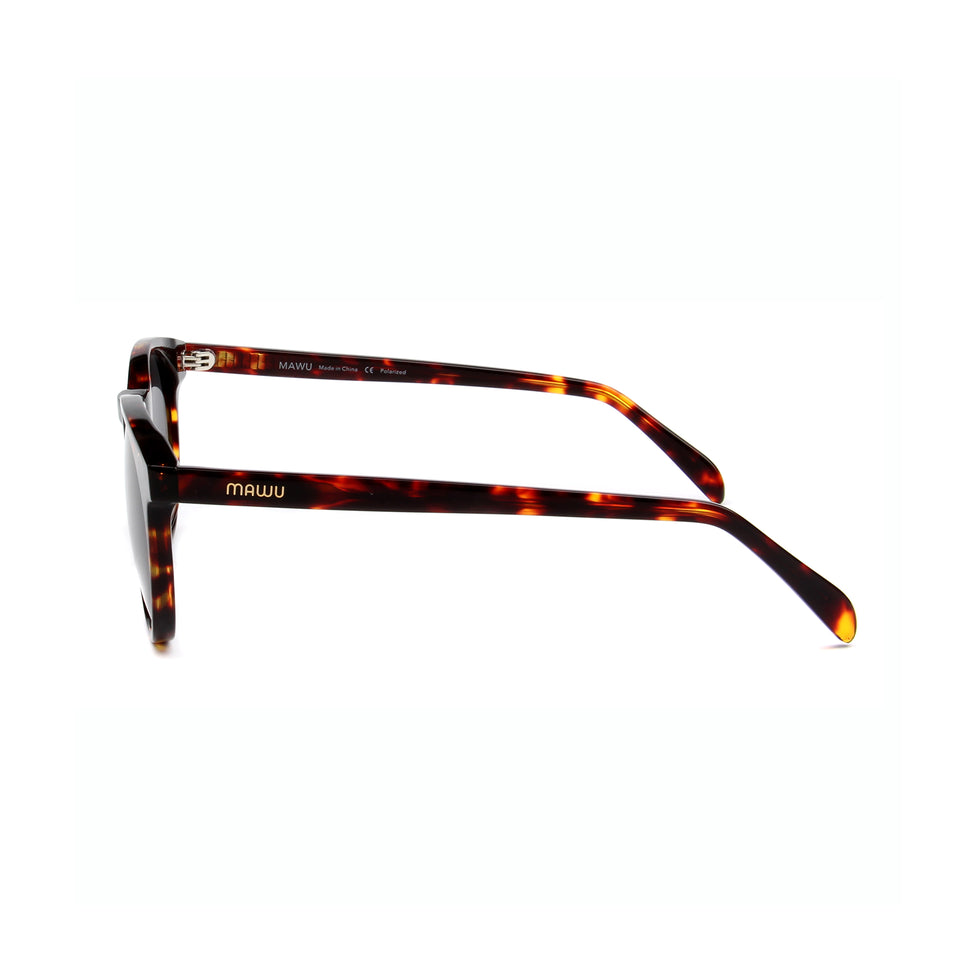 Maré Tortoise - Side View - Grey lens - Mawu sunglasses