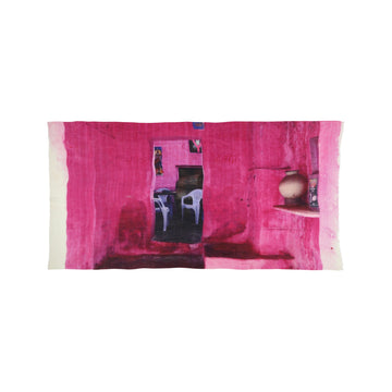 Talking Walls abi single face single face rectangular scarf pink room