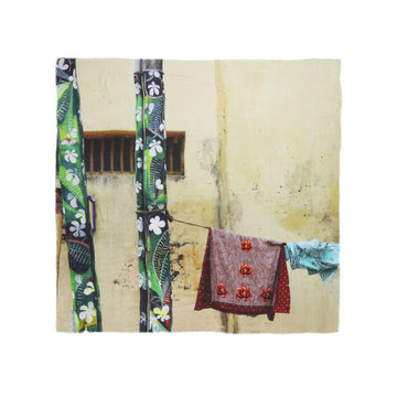 Talking Walls ela single face single face square scarf flower power