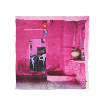Talking Walls ela single face single face square scarf pink room