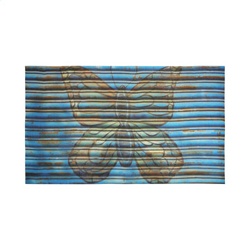 Talking Walls joy single face single face rectangular scarf blue butterfly