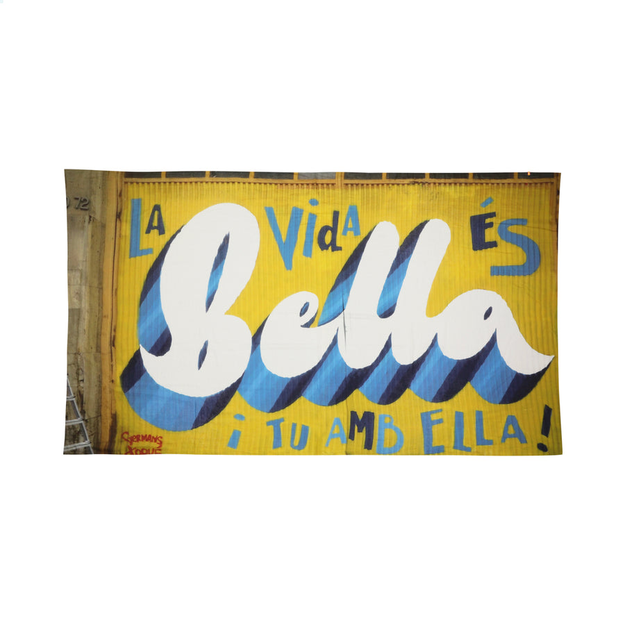 Talking Walls joy single face single face rectangular scarf la vida es bella