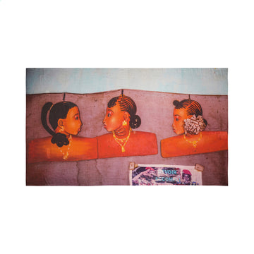 Talking Walls joy single face single face rectangular scarf marimar