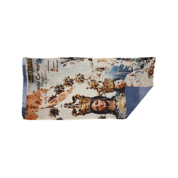 Talking Walls lana double face double face rectangular scarf carmelo jeans