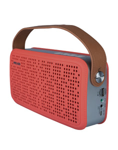 ARCADIO THUNDER - Portable Bluetooth Wireless Stereo Speaker  for Mobile/Tablet/Laptop - Red