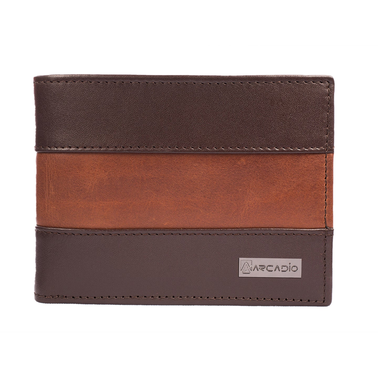 TWO MUCH Bifold Dual Toned Leather Wallet - ARW1004BR - ARCADIO LIFESTYLE