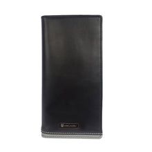 BIG HIT Bifold Dual Toned Long Leather Wallet - ARW1012BK - ARCADIO LIFESTYLE