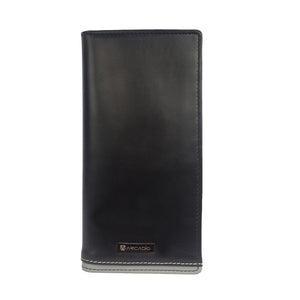 BIG HIT Bifold Dual Toned Long Leather Wallet - ARW1012BK