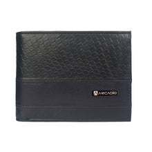 BLACK BUSTER Bifold Designer Leather Wallet - ARW1005BK - ARCADIO LIFESTYLE