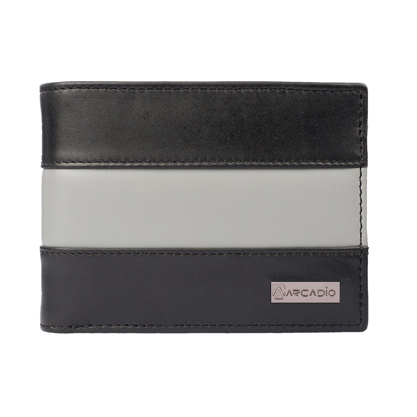 TWO MUCH Bifold Dual Toned Leather Wallet - ARW1004BK - ARCADIO LIFESTYLE