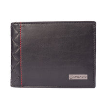 DIAMOND DÉCOR Diamond Stitch Leather Wallet - ARW1001BK - ARCADIO LIFESTYLE
