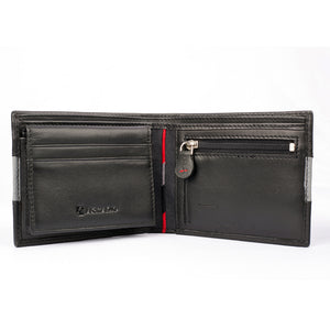 TWO MUCH Bifold Dual Toned Leather Wallet - ARW1004BK