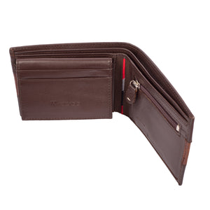 TWO MUCH Bifold Dual Toned Leather Wallet - ARW1004BR