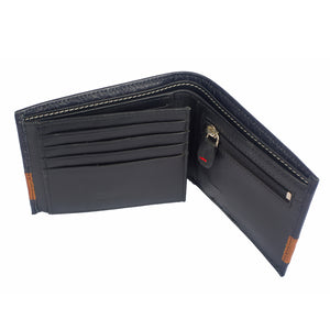 DOUBLE IMPACT Bifold Dual Toned Leather Wallet - ARW1005NY