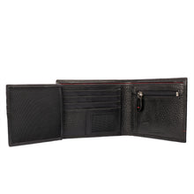 TWICE-AS-NICE Bifold Dual Toned Leather Wallet - ARW1009BK - ARCADIO LIFESTYLE