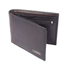 DIAMOND DÉCOR Diamond Stitch Leather Wallet - ARW1001BK