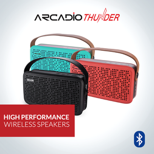 ARCADIO THUNDER - Portable Bluetooth Wireless Stereo Speaker for Mobile/Tablet/Laptop - Aqua Green