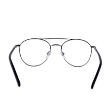 Timeless classic double bridge round two tone metal frame - FF367 - ARCADIO LIFESTYLE