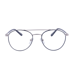 Timeless classic double bridge round two tone metal frame - FF367