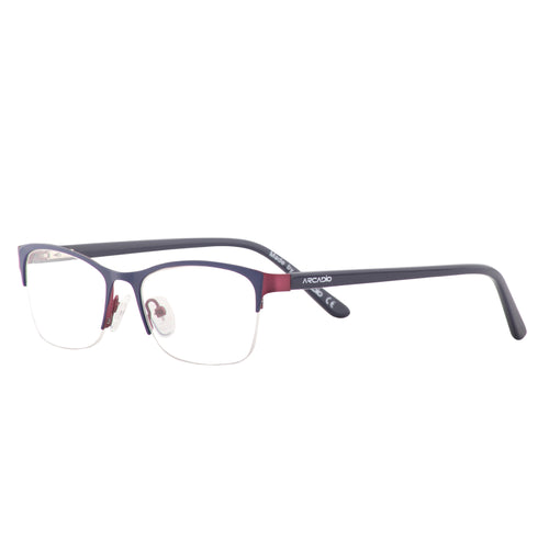 Fashion feminine half frame with two tone front with acetate temple - SP2214