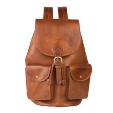 THINK TAN-Classic Tanned Leather Backpack - ARBP1012TN
