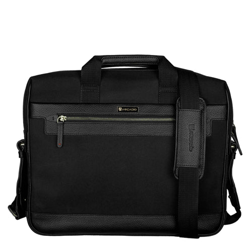 SMART STAR-Executive Business Leather Bag - ARBB1002BK - ARCADIO LIFESTYLE