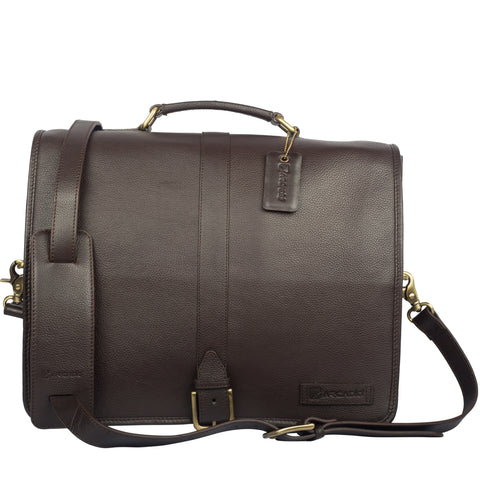 TOUCH OF CLASS-Business Leather Bag - ARBB1011BR - ARCADIO LIFESTYLE