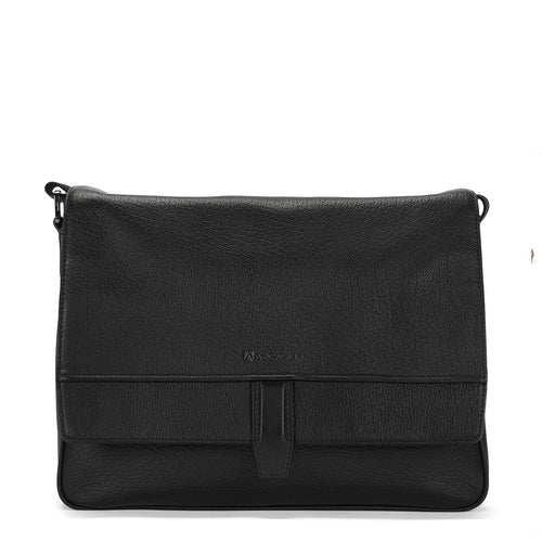 BUSINESS BARON-Flip Opening Leather Business Bag - ARBB1008BK