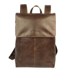 BACK KNIGHT- Elegant Leather Backpack - ARBP1011BR - ARCADIO LIFESTYLE