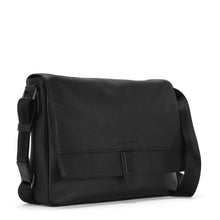 BUSINESS BARON-Flip Opening Leather Business Bag - ARBB1008BK - ARCADIO LIFESTYLE
