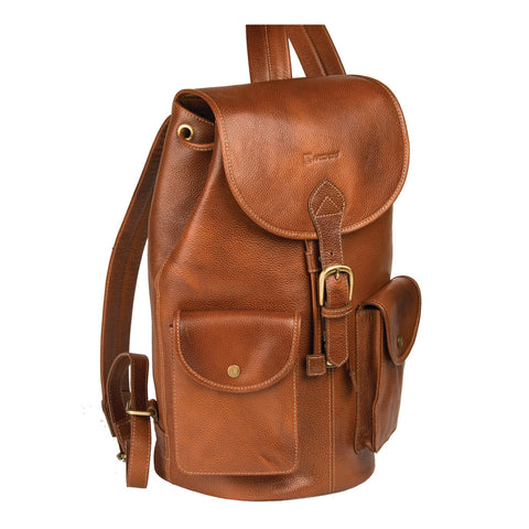 THINK TAN-Classic Tanned Leather Backpack - ARBP1012TN - ARCADIO LIFESTYLE