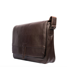 BUSINESS BARON-Flip Opening Leather Business Bag - ARBB1008BR - ARCADIO LIFESTYLE