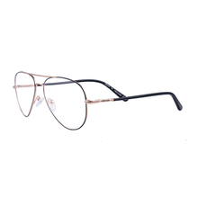 Timeless classic Double bridge two tone metal frame FF368 - ARCADIO LIFESTYLE