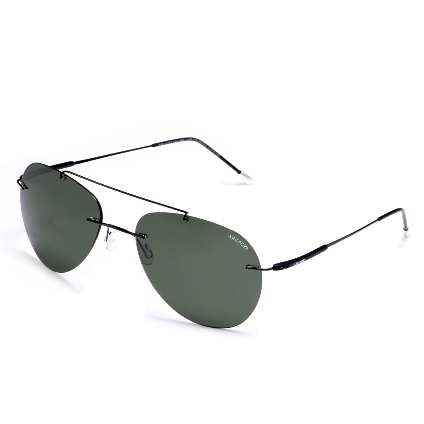 Rimless Ultra Light Polarized Sunglass - AR218,G15p - Front