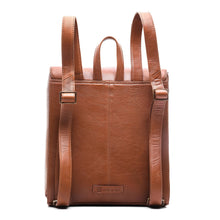Smart Leather Backpack - ARBP1003TN - ARCADIO LIFESTYLE