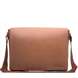 EYE GRABBER-Smart Business Leather Bag - ARBB1003TN - ARCADIO LIFESTYLE