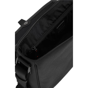 BUSINESS BARON-Flip Opening Leather Business Bag ARBB1008BK