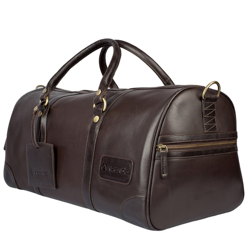 ON THE MOVE-Business Traveller Duffle Bag - ARDB1001BR - ARCADIO LIFESTYLE