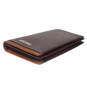 BIG HIT Bifold Dual Toned Long Leather Wallet - ARW1012BR